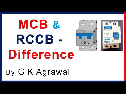MCB & RCCB circuit breaker difference & connections - YouTube