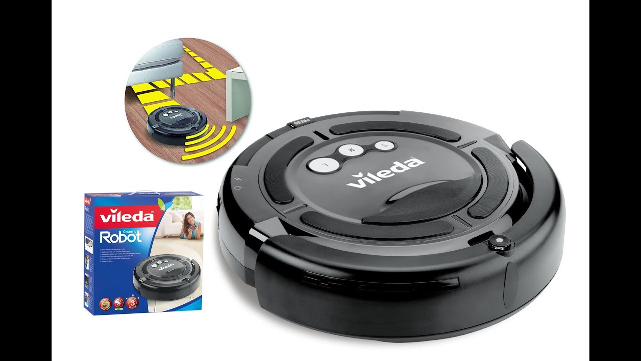 cleaning robot vileda unboxing and test youtube. Black Bedroom Furniture Sets. Home Design Ideas