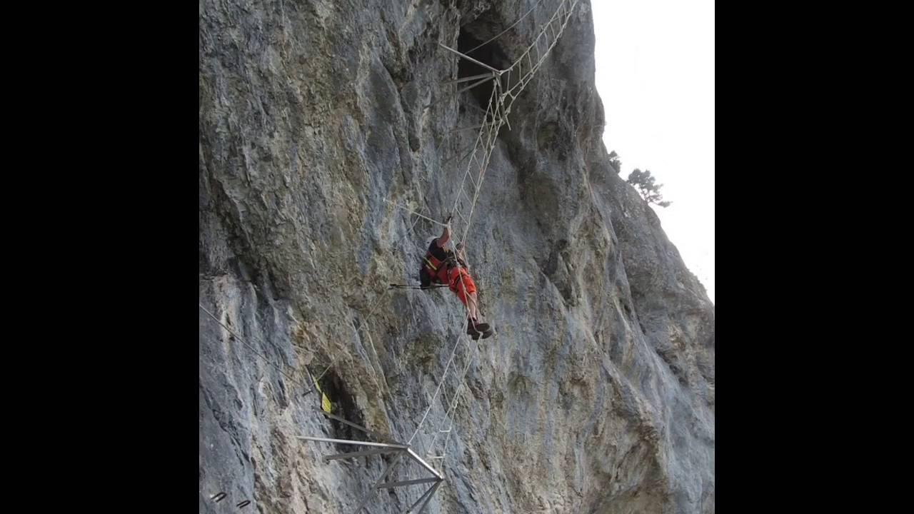 Klettersteig Himmelsleiter : Felix himmelsleiter klettersteig spielmäuer youtube