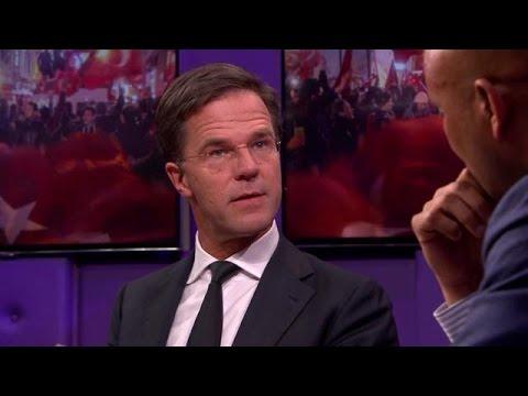 """Rutte: sancties Turkije """"te bizar voor woorden"""" - RTL LATE NIGHT"""