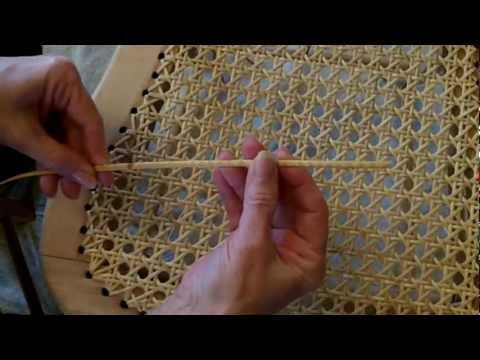 Weaving A Cane Seat Using The 7 Step Method Youtube