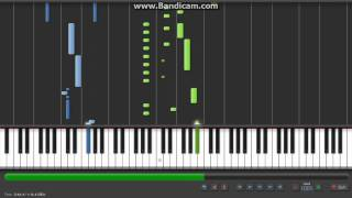 Thunderstorm by Burgmueller Tutorial for Piano/Keyboard on Synthesia