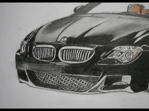 BMW M6 Drawing / Autozeichnung (www.autozeichner.com) - YouTube