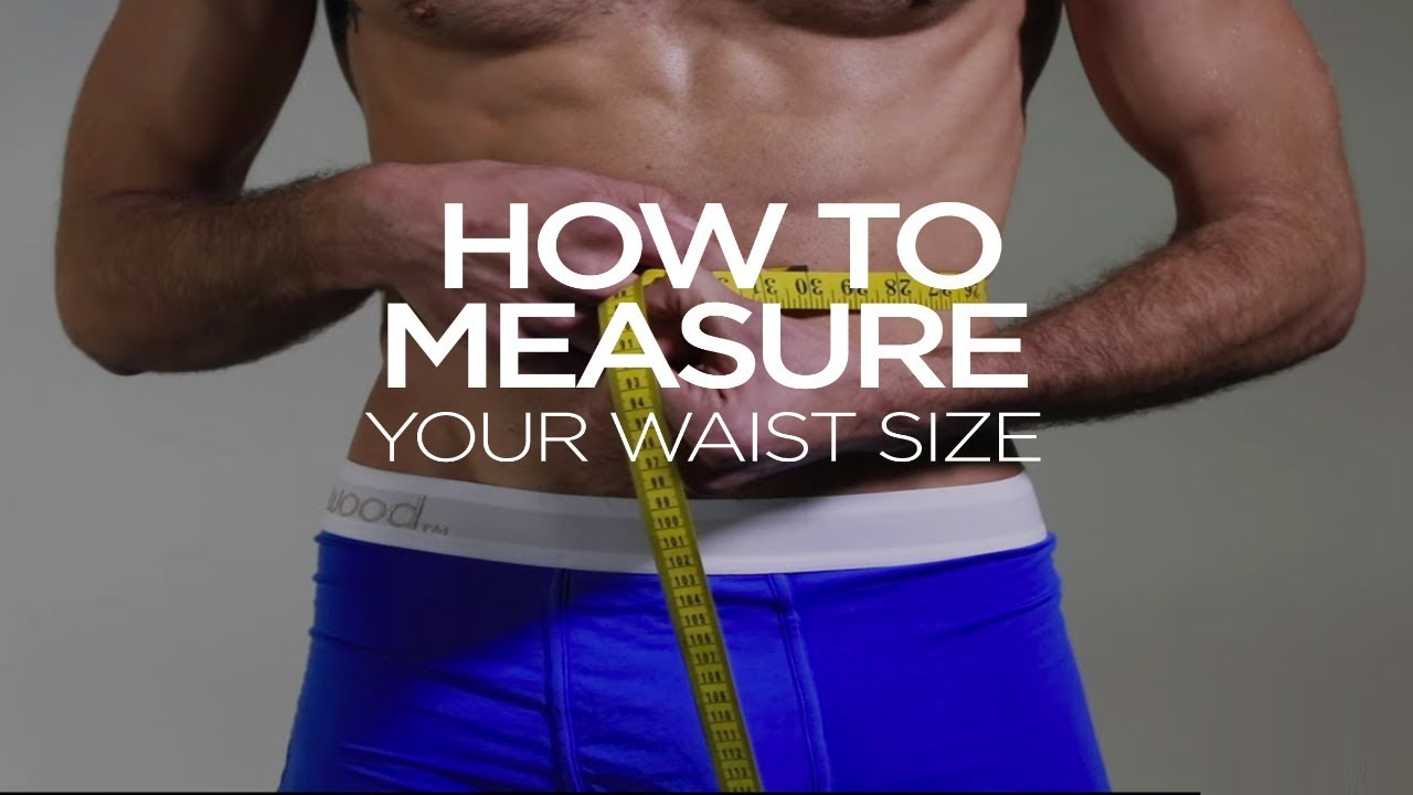 How To Measure Your Waist Size  YouTube