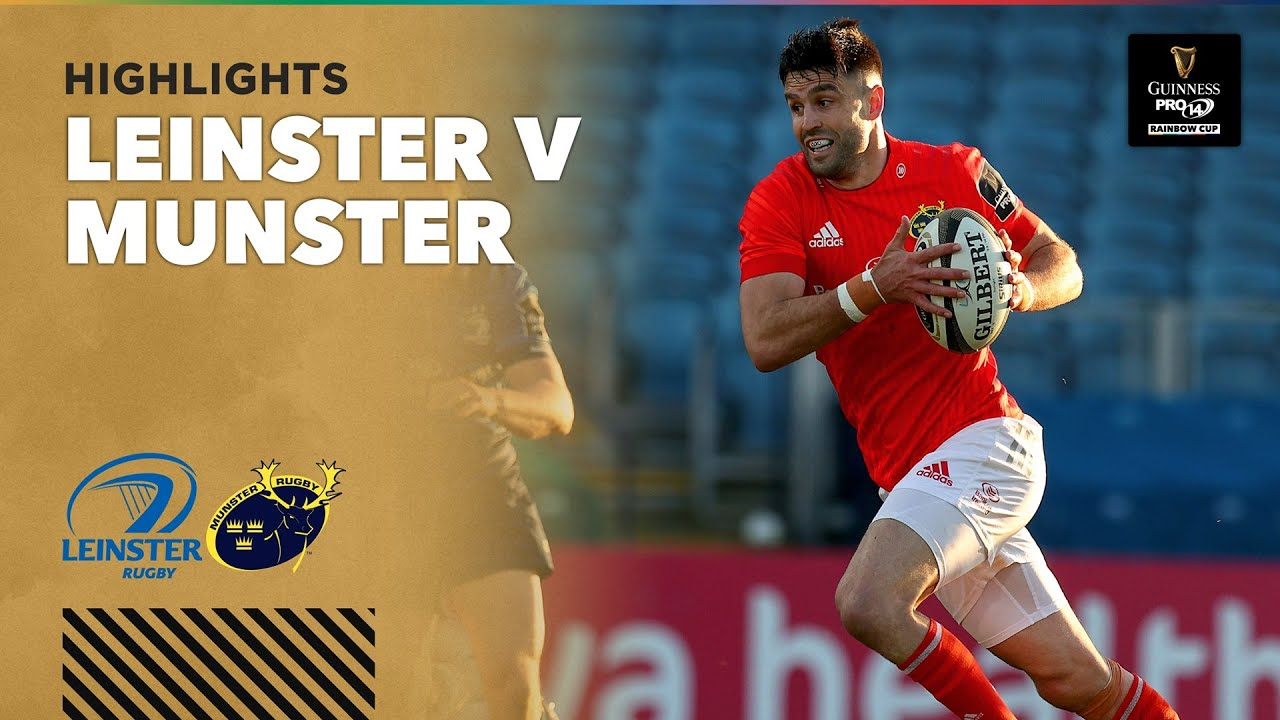 3 Minute Highlights: Leinster v Munster | Round 1 | Guinness PRO14 Rainbow Cup