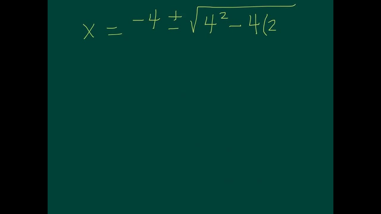 Quadratic Formula With Decimals