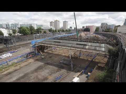 TIMELAPSE: HS2's Euston tunnel portal site clearance