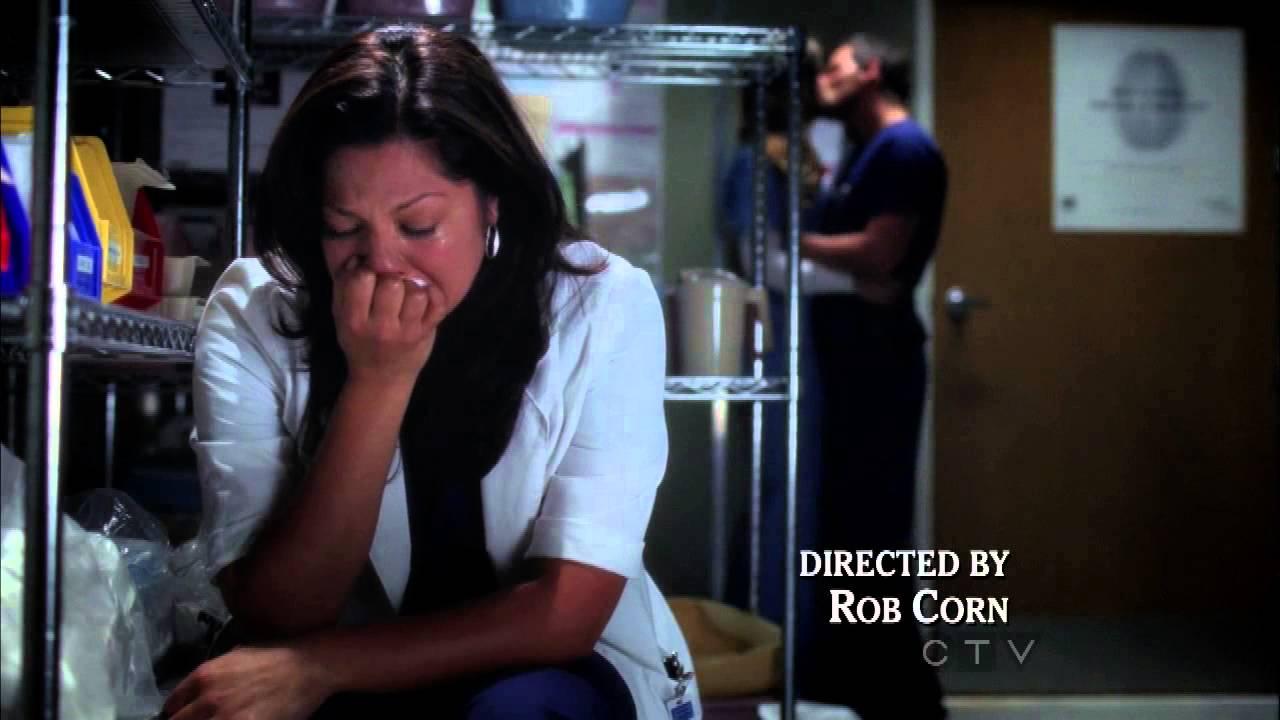 Grey S Anatomy 9x01 Callie S Crying Scene Youtube