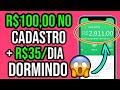 NOVO SITE PAGANDO R$100,00 REAIS SÓ PARA SE CADASTRAR + GANHE DINHEIRO TODO DIA SEM FAZER NADA