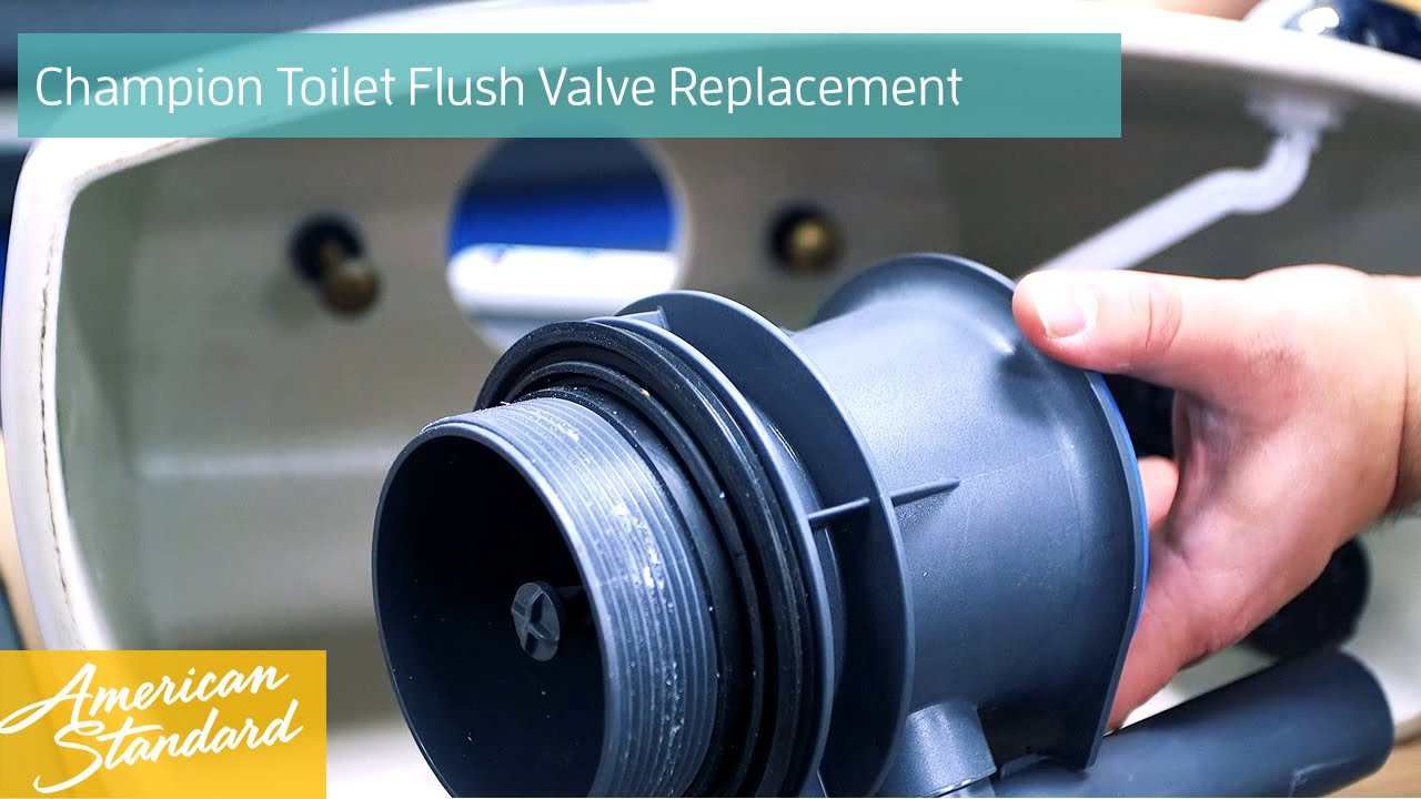 How to Replace a Flush Valve for a Champion Toilet - YouTube