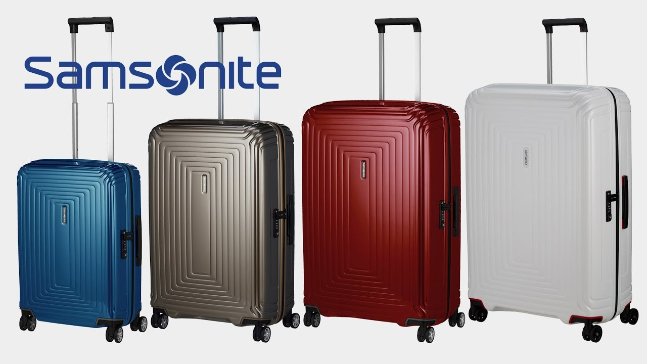 samsonite neopulse 4 rollen trolley koffer youtube. Black Bedroom Furniture Sets. Home Design Ideas