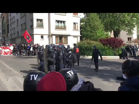 Riots in FRANCE, police Fights of PROTESTERS