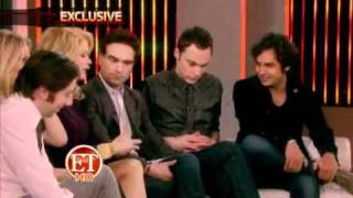 The Big Bang Theory Cast on ET with Mary Hart