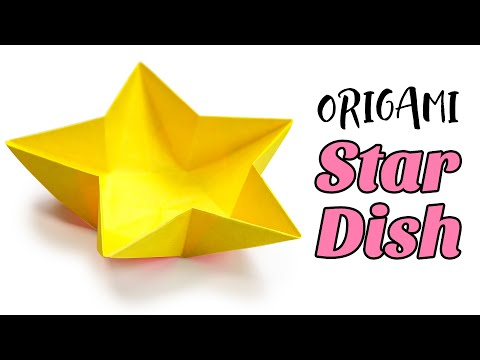 Origami Star Dish / Bowl Instructions ♥︎ Tutorial ♥︎ DIY ♥︎
