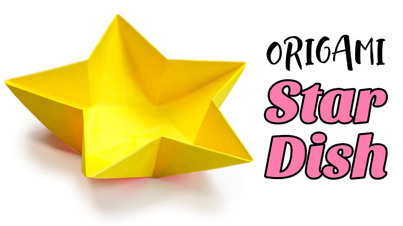 star flower origami diagram kawasaki mule 3010 wiring dish bowl instructions tutorial diy youtube premium