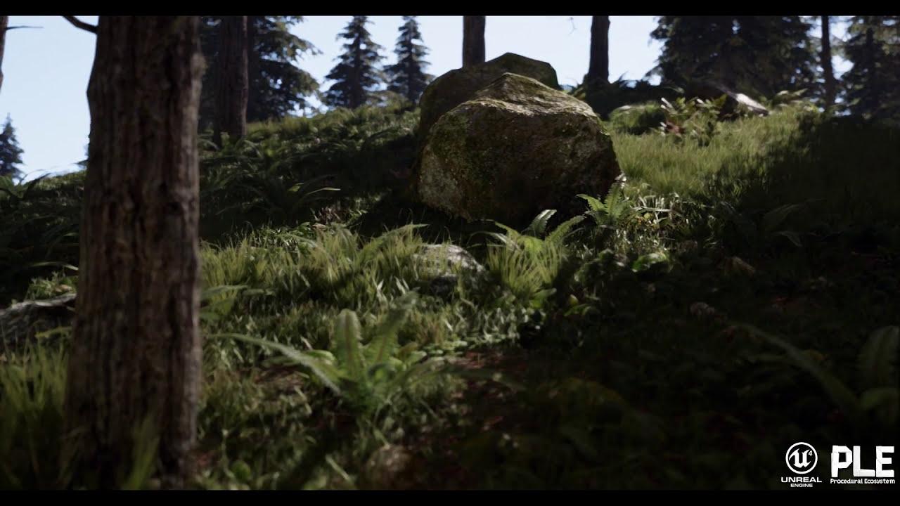 Procedural Landscape Ecosystem #Spring (Unreal Engine 4)  Gökhan Karadayi  02:05 HD