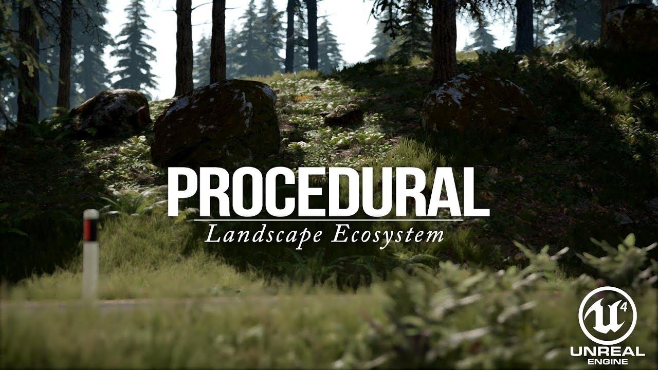 Procedural Landscape Ecosystem #Spring (Unreal Engine 4)