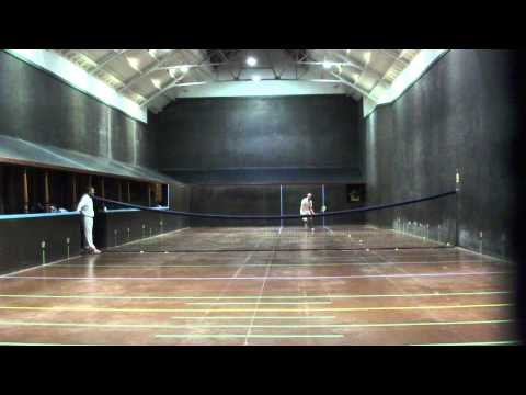 Bryn Sayers vs Conor Medlow - Real Tennis Exhibition match at Seacourt 7th December 2012