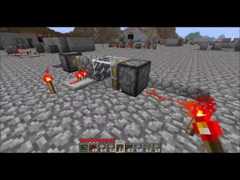 Minecraft - Piston-powered T Flip-Flop
