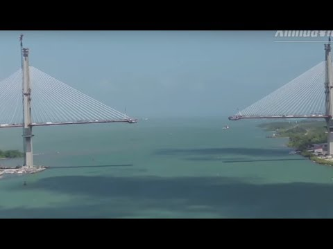 Chinese-designed bridge over Panama Canal 80% completed