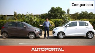 2018 Hyundai Santro vs Tata Tiago Comparison Review - Autoportal
