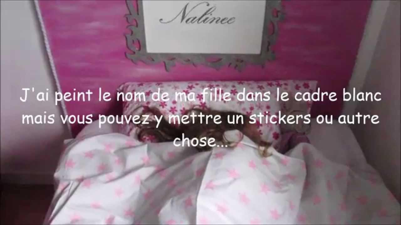 Idee Deco tete de lit a faire soi meme : Comment faire une tête de lit pour et avec son enfant - YouTube