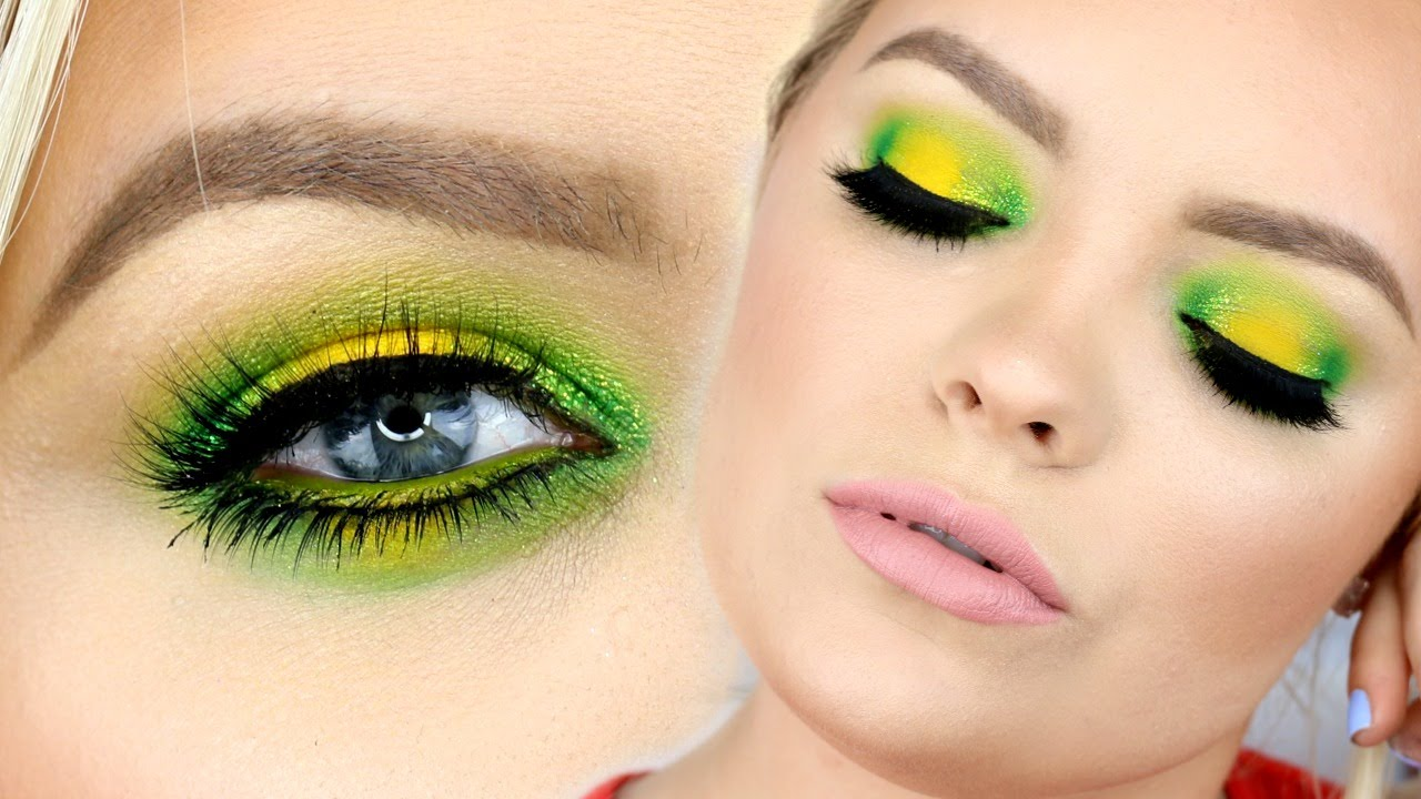 Lemon Lime 🍋 Yellow & Green Makeup Tutorial - YouTube