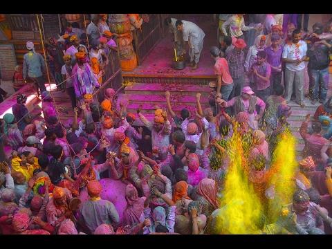 Holi Festival 2017 - Banke Bihari temple - Vrindavan