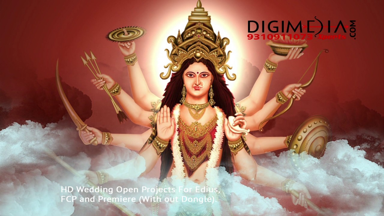 Animated Durga Free Hd Wedding Background Youtube