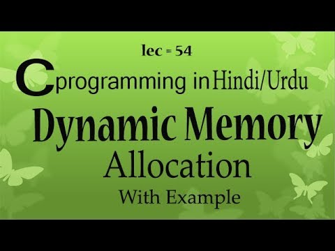Dynamic and static memory allocation in c programming