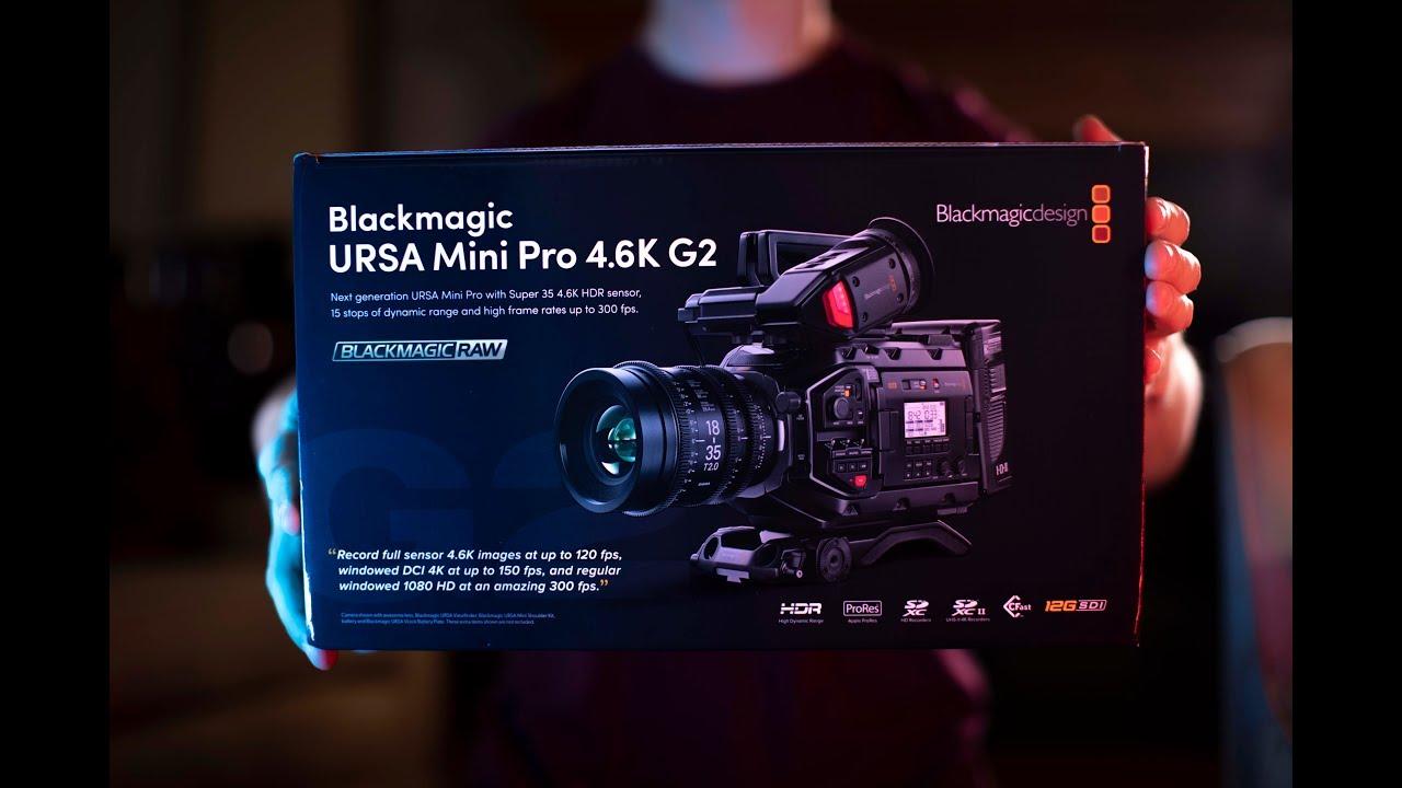 Blackmagic Ursa Mini Pro 4 6k G2 Unboxing Youtube