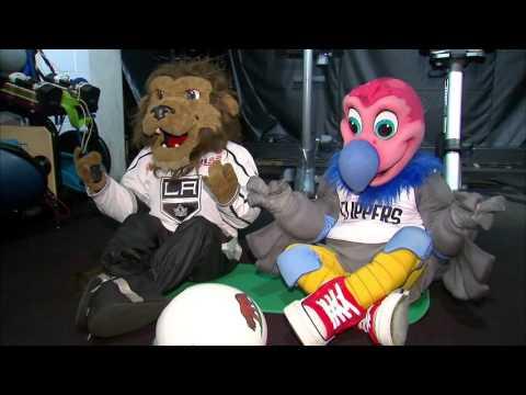 When Bailey (LA Kings) meets Chuck (LA Clippers)
