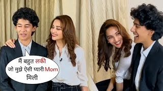 Madhuri Dixit Son Arin Nene Adorable Moments with Mom During Song Shoot | Mom-Son Bonding