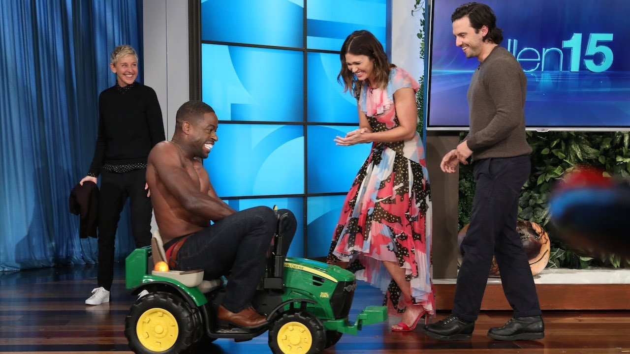 Sterling K. Brown Strips Down on a Tractor Just for Ellen - YouTube