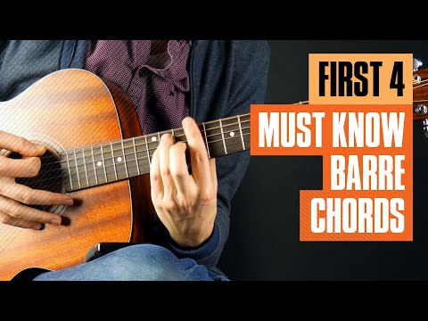 First Four Barre Chords on Guitar | Guitar Tricks