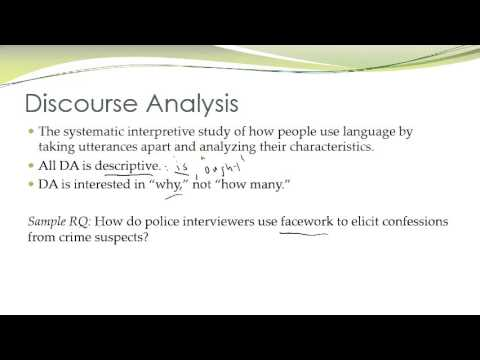 Communication Research Methods - Discourse Analysis