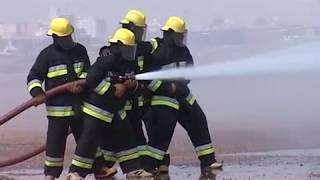 تدريب الدفاع المدني مطار الخرطوم