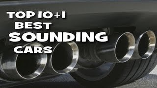 Top 10 best sounding cars - awesome engine notes!