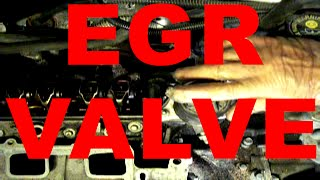 change EGR valve REPLACEMENT - GM 3.8 liter 3800 v6 engine Buick Chevy Oldsmobile Pontiac cars