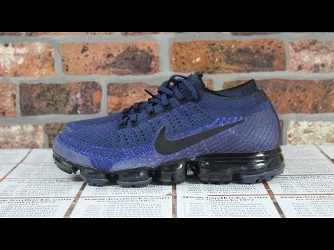 900d78a0d68b Unboxing Nike VaporMax Flyknit College Navy - YouTube