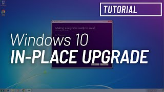 Upgrade Windows 7 to Windows 10 preserving files and apps