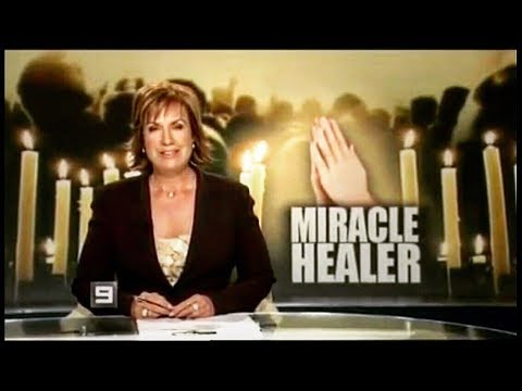 Reporter gets healed on national Australian TV- John Mellor Healing Evangelist