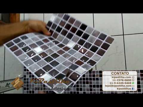 Instalação Pastilha Adesiva Kipastilha Em Box De Banheiro