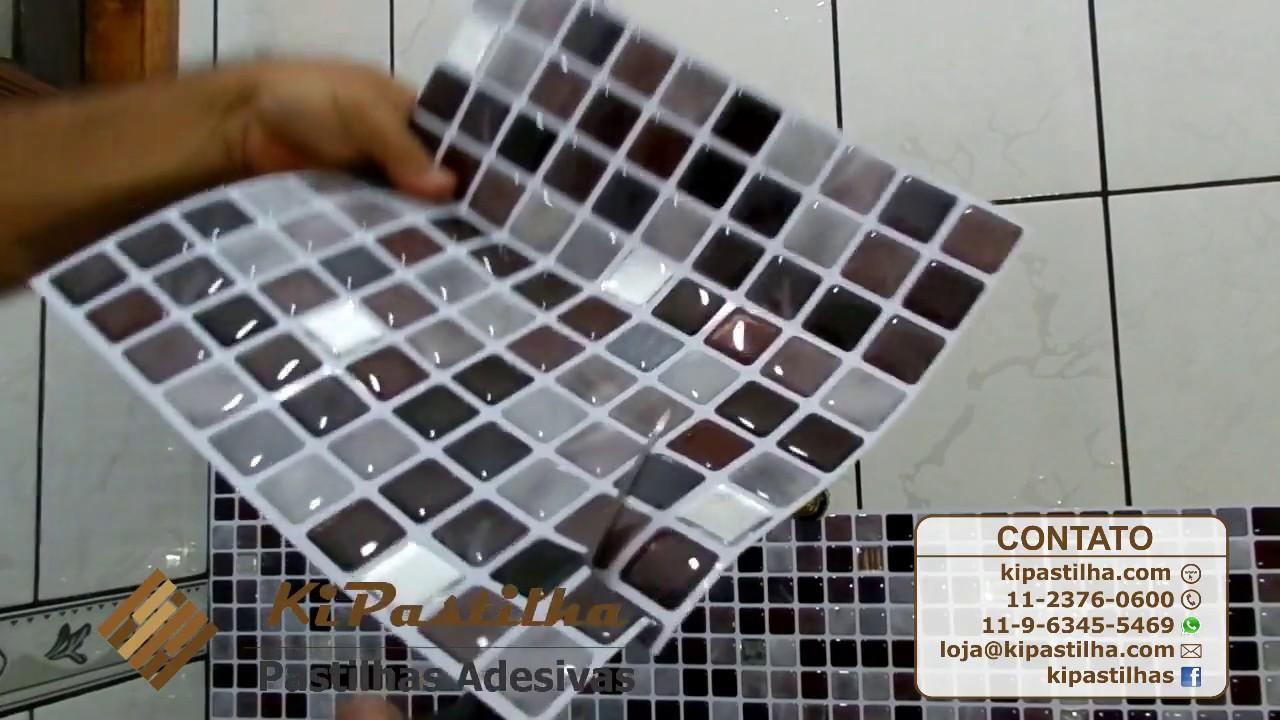 Instala o pastilha adesiva kipastilha em box de banheiro - Papel vinilico para paredes ...