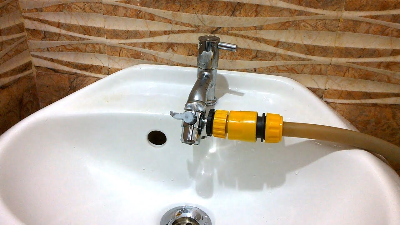 tap adapter for garden hose how to