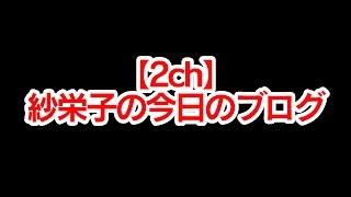 【2ch】紗栄子の今日のブログ.