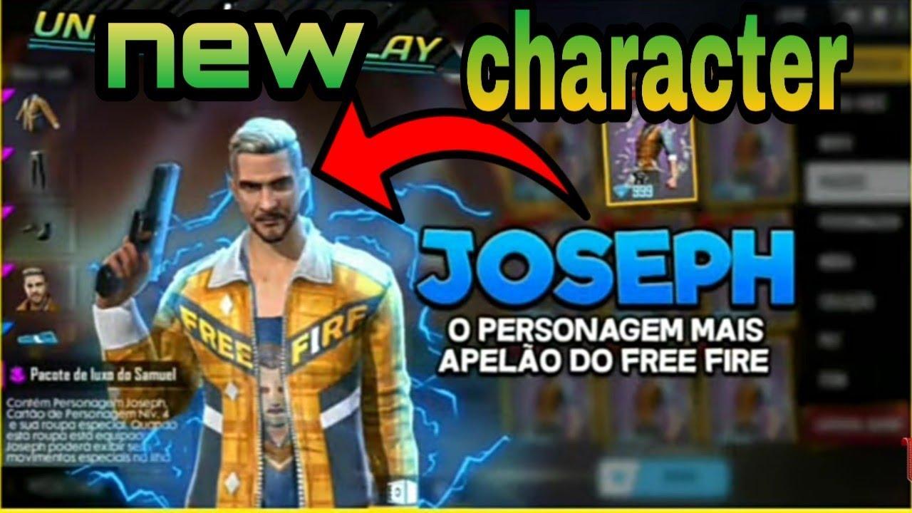 Free Fire Joseph Characterfree Fire New Character Joseph Abilitynew Character Joseph Free Fire