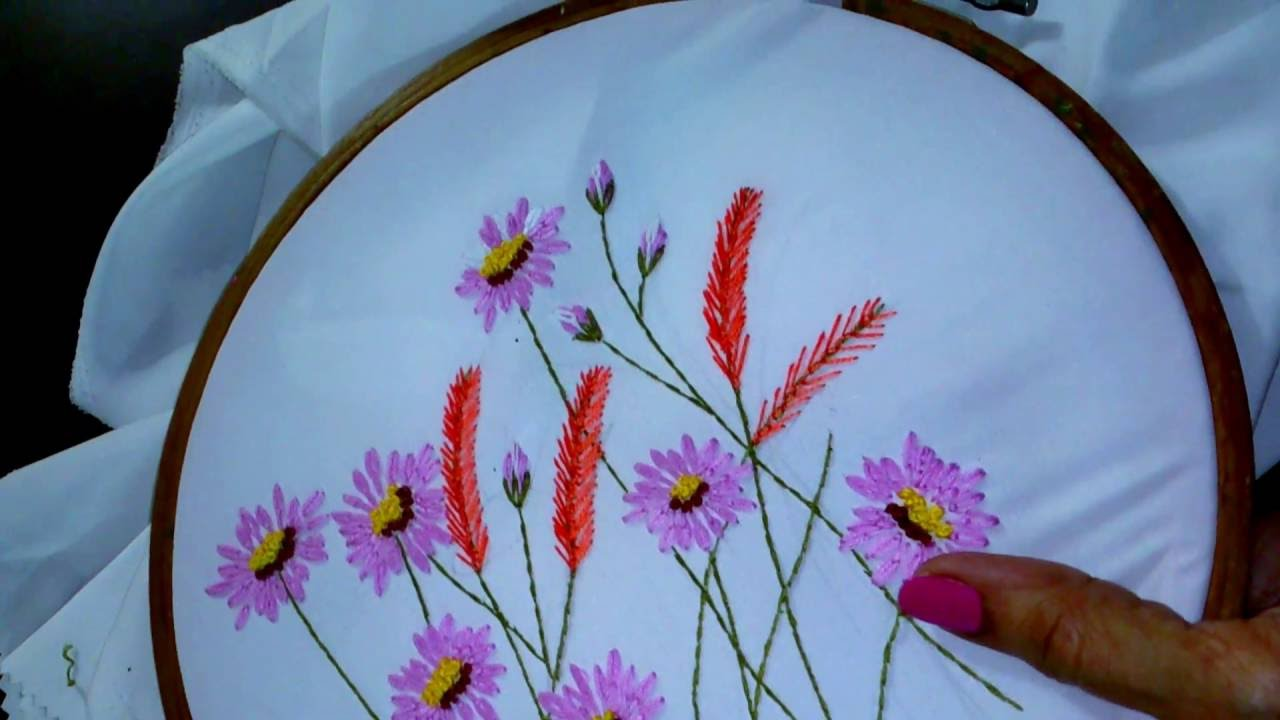Hand embroidery designs lazy daisy stitch long lazy daisy feather hand embroidery designs lazy daisy stitch long lazy daisy feather stitch youtube izmirmasajfo