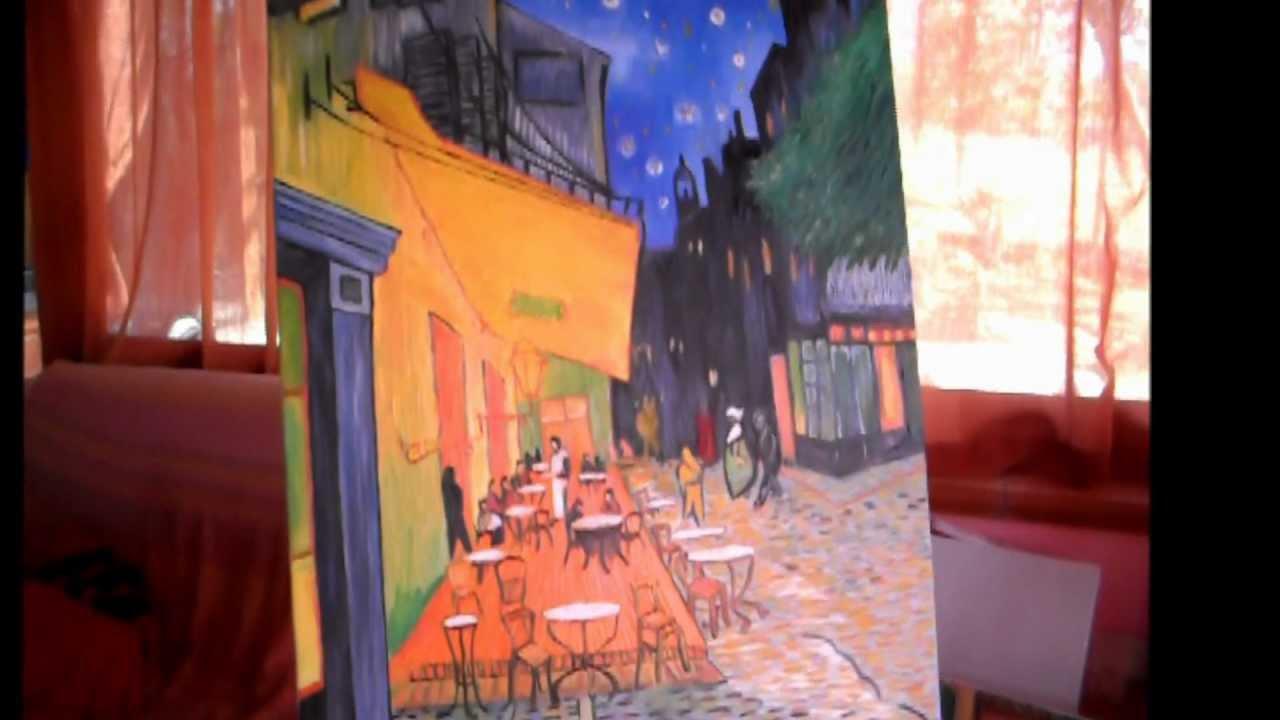 Van Gogh Terrazza Del Caffè La Sera Riproduzione Ad Olio