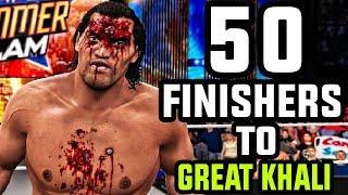WWE 2K17 - 50 Finishers To The Great Khali!